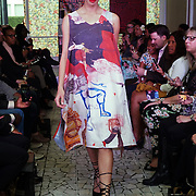 London England,UK: 17th September 2016: Rusiate Lalini from Fiji showcases is latest colltction at the  LFW S/S 2017 : The London Pacific Collective of A Pacific Fashion Show host by London Pacific Fashion Ltd at Grand Connaught Rooms Rooftop in London. Photo by See Li