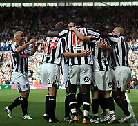 Photo: Mark Stephenson.<br /> West Bromwich Albion v Queens Park Rangers. Coca Cola Championship. 30/09/2007.West Brom celebrate Robert Koren's goal ( 2ed from right )