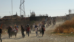 August 26, 2017 - Hundred thousands of Syrian refugees are going to their country for Kurban Bayram Fest from Oncupinar Border of Turkey. Turkey authorities allow Syrian refugees to visit their country and let them come back to Turkey after Kurban Fest. (Credit Image: © Depo Photos via ZUMA Wire)