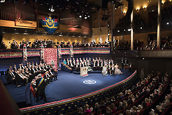 Kˆnigin  Silvia, Prinz Daniel, Kˆnig Carl XVI Gustaf, Kronprinzessin Victoria  bei der Nobelpreisverleihung 2016 in der Konzerthalle in Stockholm / 101216 ***The annual Nobel Prize Award Ceremony at The Concert Hall in Stockholm, December 10th, 2016***