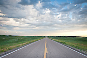 A highway stretches across the Sandhills in Holt County, Nebraska.