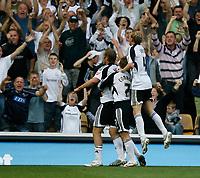 Photo: Steve Bond/Richard Lane Photography. Derby County v Sheffield United. Coca-Cola Championship. 13/09/2008. Rob Hulse (front) celebrates