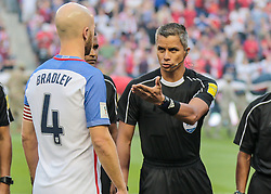 September 1, 2017 - Harrison, NJ, USA - Harrison, N.J. - Friday September 01, 2017:   Michael Bradley, John Pitti during a 2017 FIFA World Cup Qualifying (WCQ) round match between the men's national teams of the United States (USA) and Costa Rica (CRC) at Red Bull Arena. (Credit Image: © John Dorton/ISIPhotos via ZUMA Wire)