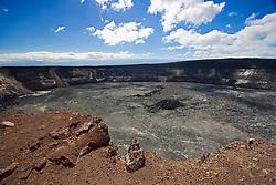 Halemaumau or Halema`uma`u Crater, Kilauea Caldera, Hawaii, USA Volcanoes National Park, Big Island, Hawaii, USA