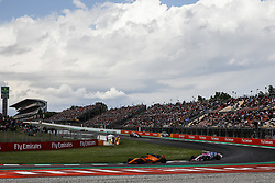 May 13, 2018 - Barcelona, Catalonia, Spain - 14 Fernando Alonso from Spain with McLaren Renault MCL33 and 31 Esteban Ocon from France Force India F1 VJM11 during the Spanish Formula One Grand Prix at Circuit de Catalunya on May 13, 2018 in Montmelo, Spain. (Credit Image: © Xavier Bonilla/NurPhoto via ZUMA Press)