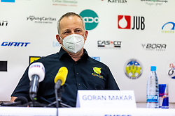 Goran Makar at press conference of charity event Dobrodelnost okoli Slovenije, on April 20, 2021 in Galerija Druzina, Ljubljana, Slovenia. Photo by Matic Klansek Velej / Sportida