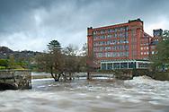 River Derwent in spate - Belper Weir