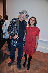 RON ARAD and his wife at the private view of Anish Kapoor's latest exhibition at the Royal Academy of Arts, Piccadilly, London on 22nd September 2009