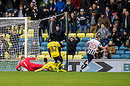 Steve Morison of Millwall scores the winner during the FA Cup match at The Den, London<br /> Picture by Liam McAvoy/Focus Images Ltd 07413 543156<br /> 29/01/2017