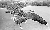 Aerial view of Portrush, Co Antrim, N Ireland, UK, taken 4th August 1976. 197608040336AV2<br /> <br /> Copyright Image from Victor Patterson, 54 Dorchester Park, Belfast, UK, BT9 6RJ<br /> <br /> t: +44 28 90661296<br /> m: +44 7802 353836<br /> vm: +44 20 88167153<br /> e1: victorpatterson@me.com<br /> e2: victorpatterson@gmail.com<br /> <br /> For my Terms and Conditions of Use go to www.victorpatterson.com