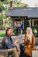 Couples at Alma Rosa Ranch House.