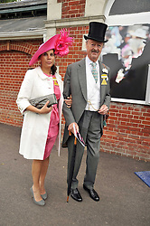 The DUKE & DUCHESS OF MARLBOROUGH at the Royal Ascot racing festival 2009 held on 17th June 2009.