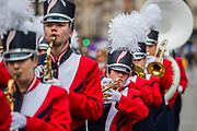 The New York Charter High School Band - The New Years Day parade passes through central London.