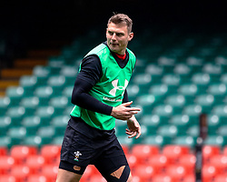 Dan Biggar of Wales<br /> <br /> Photographer Simon King/Replay Images<br /> <br /> Six Nations Round 3 - Captains Run - Wales v England - Saturday 22nd February 2019 - Principality Stadium - Cardiff<br /> <br /> World Copyright © Replay Images . All rights reserved. info@replayimages.co.uk - http://replayimages.co.uk