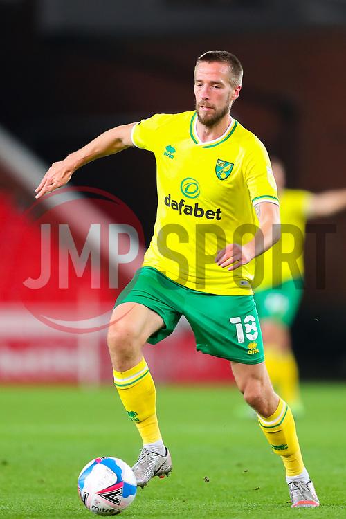 Marco Stiepermann of Norwich City - Mandatory by-line: Nick Browning/JMP - 24/11/2020 - FOOTBALL - Bet365 Stadium - Stoke-on-Trent, England - Stoke City v Norwich City - Sky Bet Championship