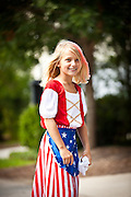 A young girl dressed as Betsy Ross in the I'On Community 4th of July parade.