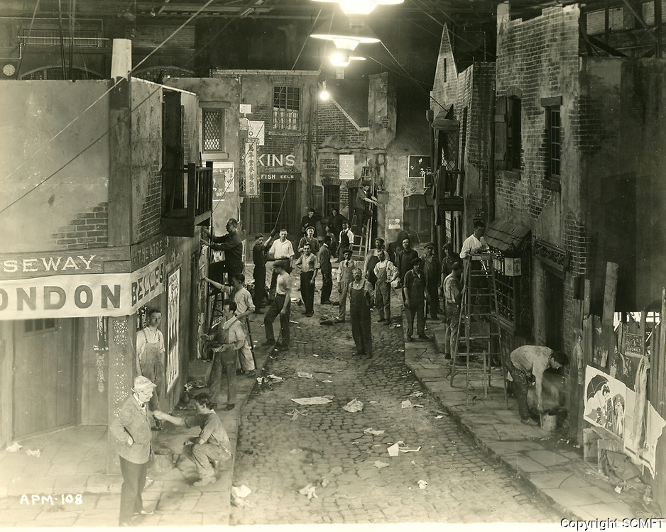 1920 Movie sets at Famous Players Lasky Studios