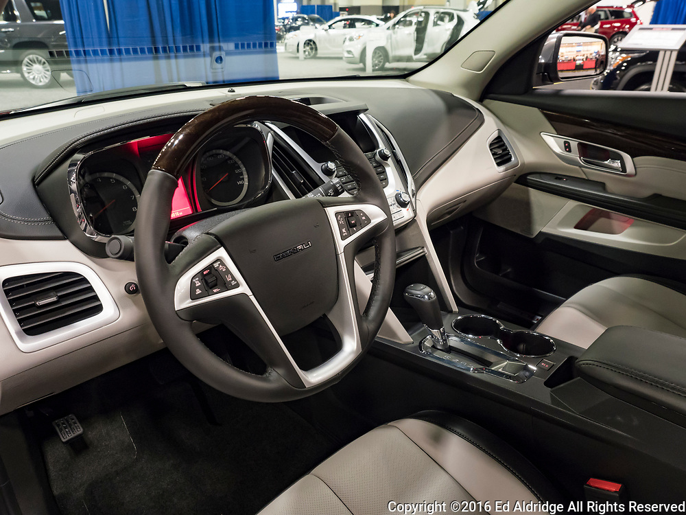 CHARLOTTE, NC, USA - NOVEMBER 17, 2016: GMC Terrain Denali on display during the 2016 Charlotte International Auto Show at the Charlotte Convention Center in downtown Charlotte.