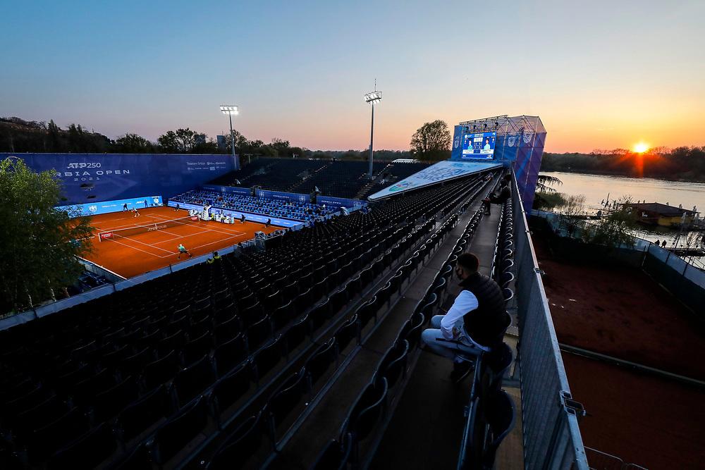 Tennis-ATP Serbia Open Belgrade 2021-<br /> Marco Cecchinato (ITA) v Matteo Berrettini (ITA)<br /> totali, general overview<br /> Beograd, 21.04.2021.foto: Marko Djokovic/Starsportphoto ©
