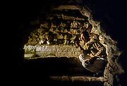 Copàn: Patio de los Jaguares. Tunnel under Temple 22.