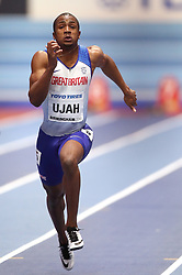Great Britain's Chijindu Ujah during heat 5 of the Men's 60m, during day three of the 2018 IAAF Indoor World Championships at The Arena Birmingham.