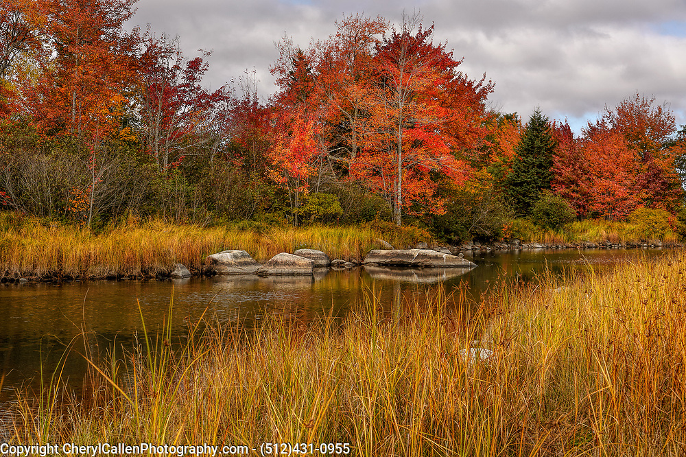 A scene in Bar Harbor,Maine during the Fall