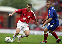 Photo: Rich Eaton.<br /> <br /> Bristol City v Crewe Alexander. Coca Cola League 1. 14/10/2006. Scott Brown, left who scored for Bristol passes away from Crewes Michael O'Connor