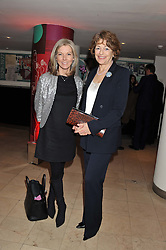 Left to right, MARY NIGHTINGALE and FLORA FRASER at the 2011 Costa Book Awards held at Quaglino's, 16 Bury Street, London on 24th January 2012.