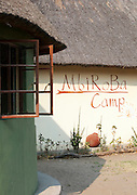 The Mbiroba Camp at Seronga. The camp is run by the Polers Trust, a community initiative offering tours to tourists of the Okavango Delta, Botswana