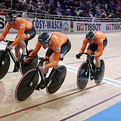 26-02-2020: Wielrennen: WK Baan: Berlijn <br />Teamsprinter pakken de derde title op rij