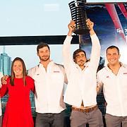 © Maria Muina I MAPFRE. Price giving ceremony for Leg 3 in Melbourne. Ceremonia de entrega de premios de la etapa 3 en Melbourne.