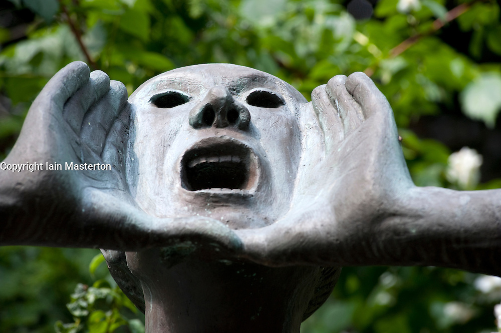 Sculpture in garden at Kathe Kollwitz Museum in Charlottenburg in Berlin Germany