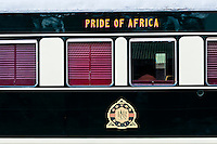 Rovos Rail Pride of Africa train before departing for Cape Town, Rovos Rail Station, Capital Park, Pretoria (Tshwane), South Africa.