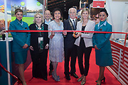 NO FEE PICTURES<br /> 25/1/19 Aer Lingus stand pictured at the Holiday World Show 2019 at the RDS Simmonscourt in Dublin. Picture; Arthur Carron