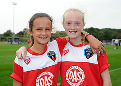 Young Bristol Academy Women's supporters  - Photo mandatory by-line: Dougie Allward/JMP - Mobile: 07966 386802 - 28/09/2014 - SPORT - Women's Football - Bristol - SGS Wise Campus - Bristol Academy Women's v Manchester City Women's - Women's Super League