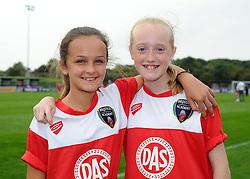 Young Bristol Academy Women's supporters  - Photo mandatory by-line: Dougie Allward/JMP - Mobile: 07966 386802 - 28/09/2014 - SPORT - Women's Football - Bristol - SGS Wise Campus - Bristol Academy Women's v Manchester City Women's - Women's Super League