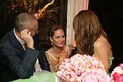 JOHNNY ELICHAOFF, TRINNI WOODALL AND LAUREN BOOTH, Cartier Chelsea Flower Show dinner hosted by Arnaud Bamberger. Chelsea Physic Garden. London. 21 May 2007.  -DO NOT ARCHIVE-© Copyright Photograph by Dafydd Jones. 248 Clapham Rd. London SW9 0PZ. Tel 0207 820 0771. www.dafjones.com.