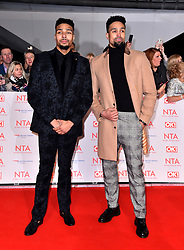 Ashley Banjo (right) and Jordan Banjo attending the National Television Awards 2018 held at the O2 Arena, London. PRESS ASSOCIATION Photo. Picture date: Tuesday January 23, 2018. See PA story SHOWBIZ NTAs. Photo credit should read: Matt Crossick/PA Wire