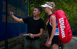 September 22, 2018 - Elina Svitolina of the Ukraine signs autographs at the 2018 Dongfeng Motor Wuhan Open WTA Premier 5 tennis tournament (Credit Image: © AFP7 via ZUMA Wire)
