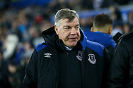 Everton Manager Sam Allardyce looks on from the dugout.  Premier league match, Everton v Manchester Utd at Goodison Park in Liverpool, Merseyside on New Years Day, Monday 1st January 2018.<br /> pic by Chris Stading, Andrew Orchard sports photography.