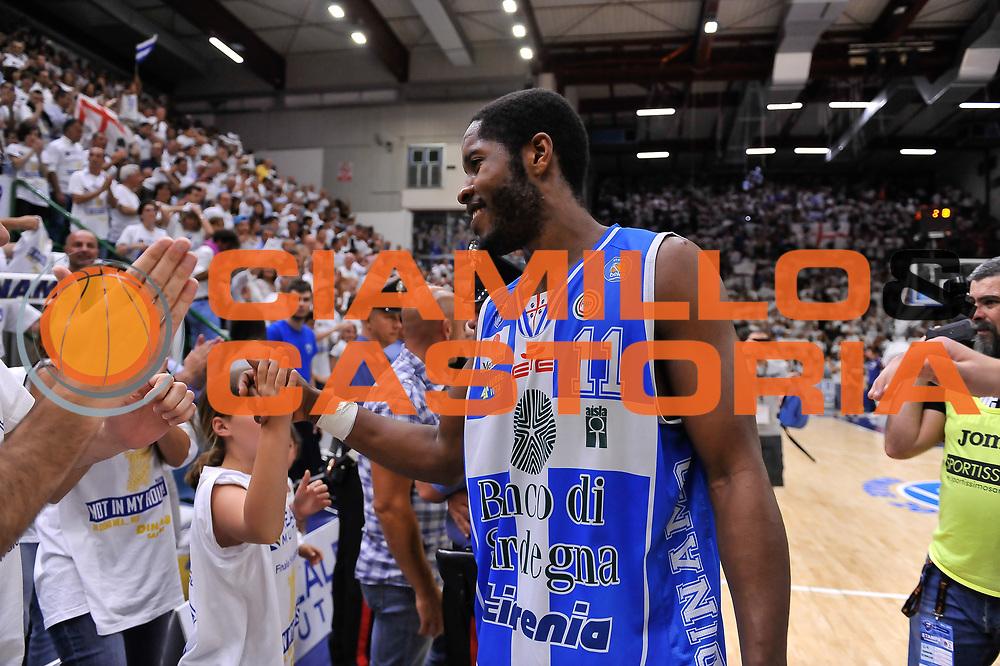 DESCRIZIONE : Campionato 2014/15 Serie A Beko Dinamo Banco di Sardegna Sassari - Grissin Bon Reggio Emilia Finale Playoff Gara6<br /> GIOCATORE : Jerome Dyson<br /> CATEGORIA : Fair Play Postgame Ritratto Esultanza<br /> SQUADRA : Dinamo Banco di Sardegna Sassari<br /> EVENTO : LegaBasket Serie A Beko 2014/2015<br /> GARA : Dinamo Banco di Sardegna Sassari - Grissin Bon Reggio Emilia Finale Playoff Gara6<br /> DATA : 24/06/2015<br /> SPORT : Pallacanestro <br /> AUTORE : Agenzia Ciamillo-Castoria/L.Canu