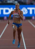 Athletics - 2017 IAAF London World Athletics Championships - Day Three, Evening Session<br /> <br /> Women's 100m Semi Final<br /> <br /> Dafne Schippers (Netherlands) at the London Stadium<br /> <br /> COLORSPORT/DANIEL BEARHAM