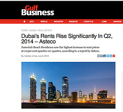 Gulf Business website; Skyline of Dubai at night