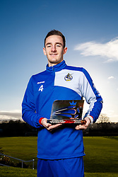 Tom Lockyer of League 2 side Bristol Rovers is presented with the Football League Young Player of the Month Award for December 2015 - Mandatory byline: Rogan Thomson/JMP - 07966 386802 - 15/01/2016 - FOOTBALL - The Lawns Training Ground - Bristol, England - Football League Young Player Award.