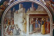 St Stephen Preaching'. Fra Angelico (Guido di Pietro/Giovanni da Fiesole c1400-55) Italian painter. Fresco. Chapel of Nicholas V, Vatican Palace.