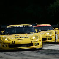 6-7 July, 2007, Lakeville, Connecticut, USA.<br /> Olivier Berretta/Oliver Gavin Corvette lead teammates Johnny O'Connell/Jan Magnussen.<br /> ©2007 Phillip Abbott/USA<br /> LAT Photographic