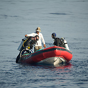 Scene of a dive expedition.