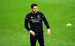 Sean Long of Cheltenham Town warms up prior to kick-off- Mandatory by-line: Nizaam Jones/JMP - 20/02/2021 - FOOTBALL - Jonny-Rocks Stadium - Cheltenham, England - Cheltenham Town v Bradford City - Sky Bet League Two