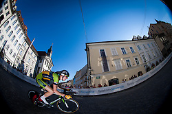 Matej Mohoric (SLO) of Sava competes during Stage 1of  cycling race 20th Tour de Slovenie 2013 - Time Trial 8,8 km in Ljubljana,  on June 12, 2013 in Slovenia. (Photo By Vid Ponikvar / Sportida)