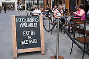 As Britain enters a period of deep recession, with some shops closing either temporarily or permanently as the economic downturn caused by the Covid-19 pandemic cuts hard, people continue to come to the West End to Covent Garden to sit outside at restaurants on 13th August 2020 in London, United Kingdom. The Office for National Statistics / ONS has announced that gross domestic product / GDP, the widest gauge of economic health, fell by 20.4% in the second quarter of the year, compared with the previous quarter. This is the biggest decline since records began. The result is that Britain has officially entered recession, as the UK economy shrank more than any other major economy during the coronavirus outbreak.